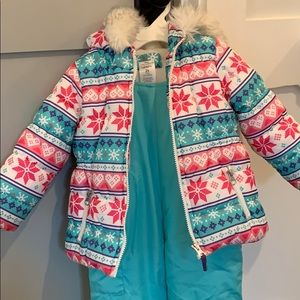 Toddler girl snow suit